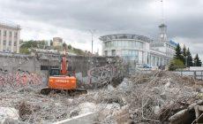 На Нижне-Волжской набережной демонтировали ж/б конструкции